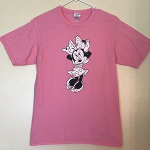Tops - Disney Minnie Mouse Pink T-shirt - Size S